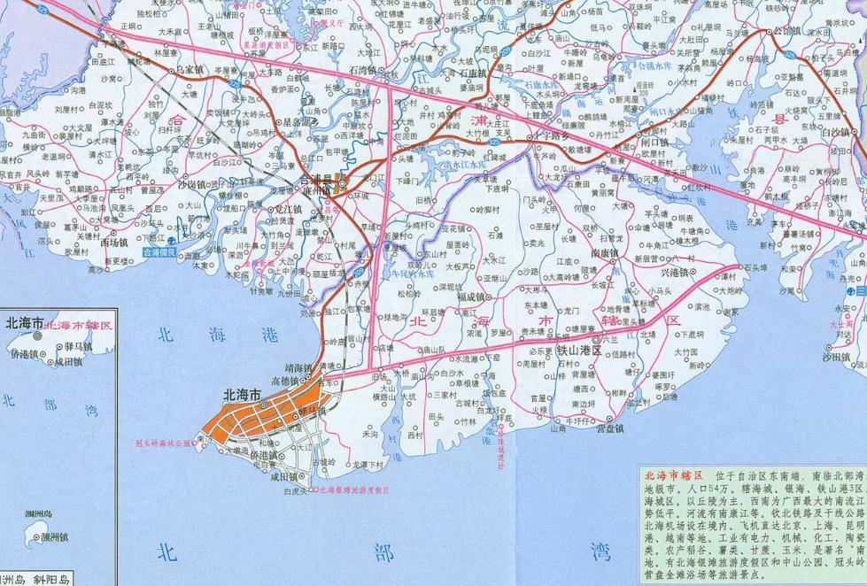 北海地图全图高清版 图片预览