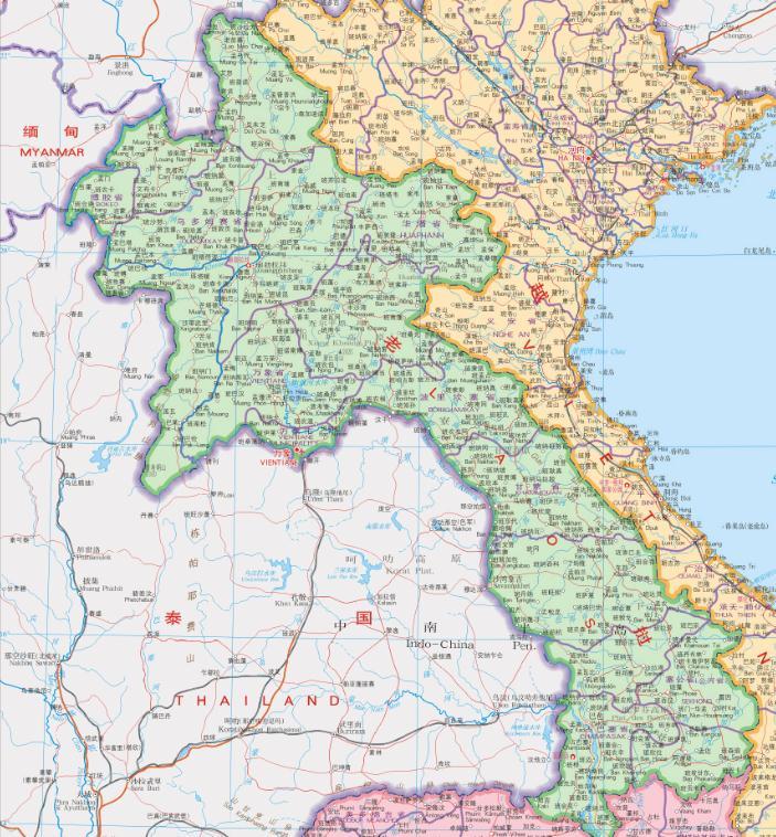 老挝地图全图高清版