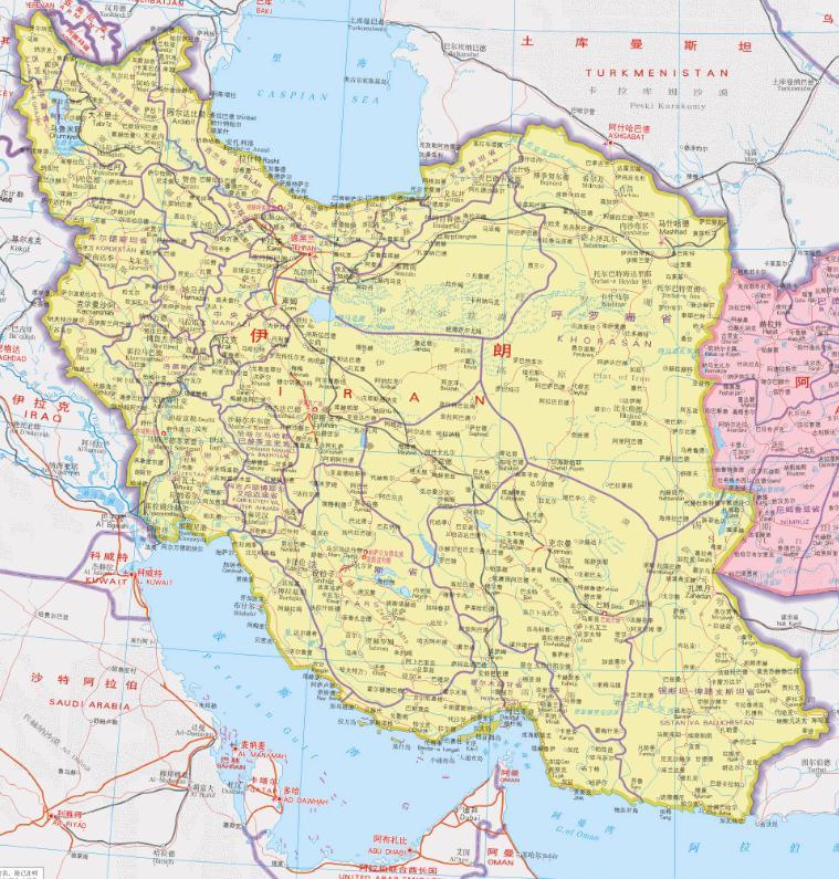 伊朗地图全图高清版下载|伊朗地图全图高清版