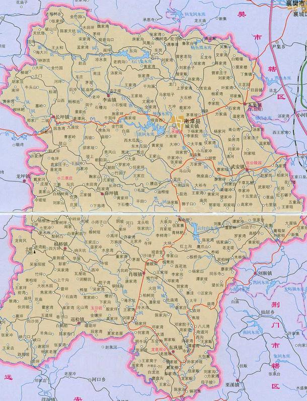 南漳县地图全图高清版 图片预览