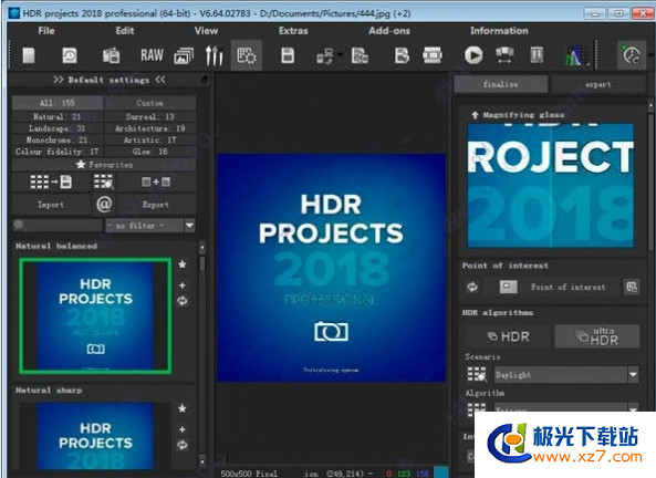 图片渲染软件HDR projects 2018 professional v6.64.02783 官方安装版 X64位