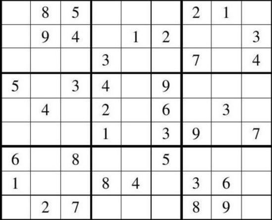 九宫格数独题目及答案可打印版