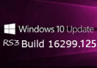 Windows10 RS3 16299.125 (KB4054517) 累�e更新�a丁