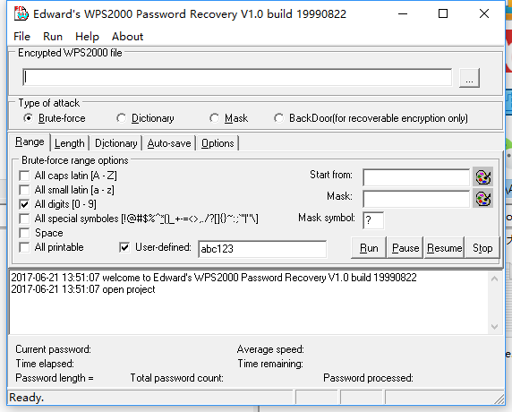 Edwards WPS2000 Password Recovery(wps密�a恢��) v1.0Build19990822 �G色版