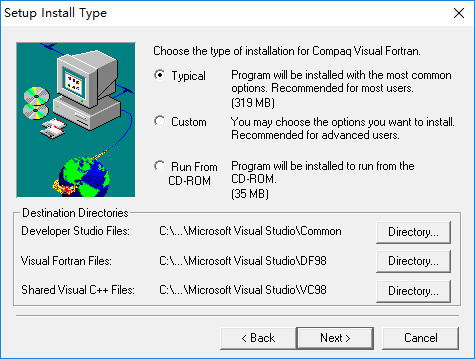 Compaq Visual Fortran 6.6安装教程