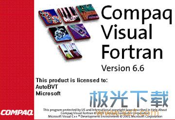 Fortran编译器Compaq Visual Fortran 6.6B 破解版