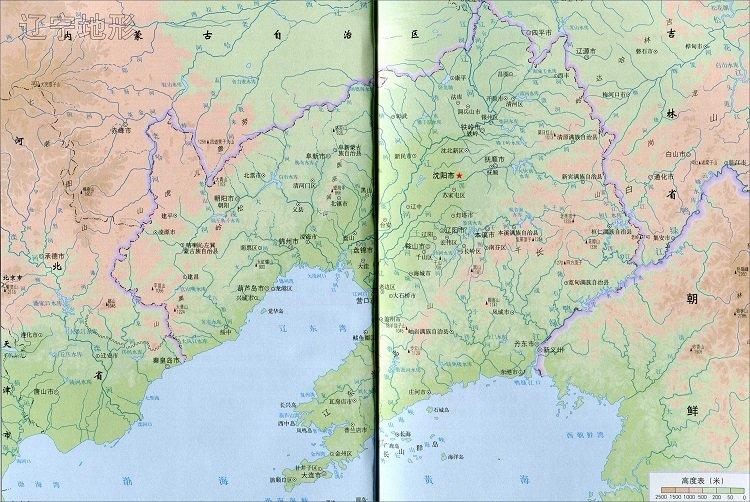 辽宁省地形图高清版