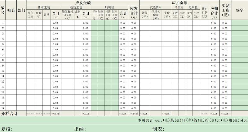 680个带公式的Excel模板 完整免费版