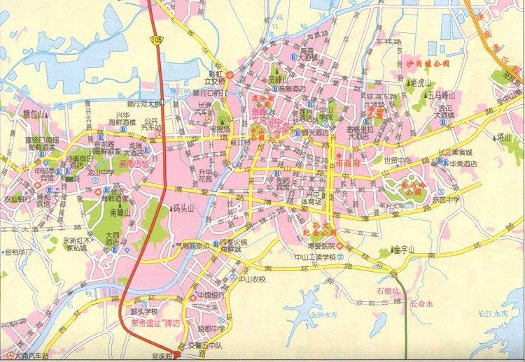 中山市区地图高清版