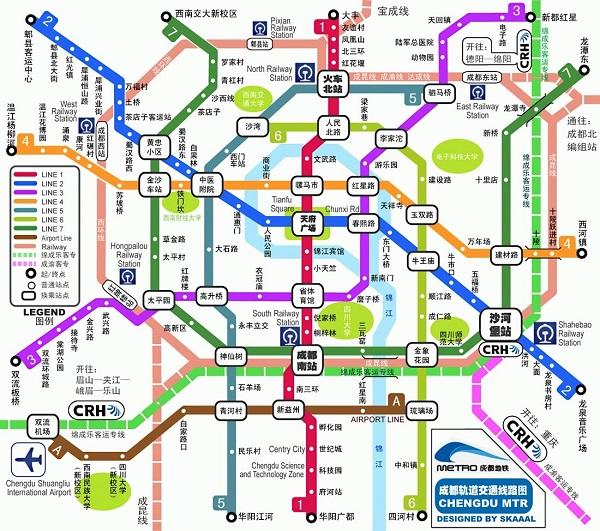 成都地铁线路图高清版