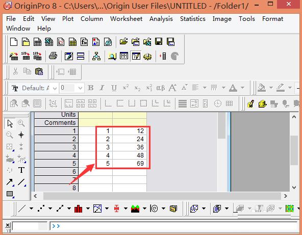 点击点图出现如图所示   以及点线图,操作同上   还有柱状图,操作如   5.混合编程以提高效率   6.向origin中输入数据   7.准备作图和分析所需的数据   8.导出或打开图形以备发布或介绍   originpro8.0教程   双击打开or