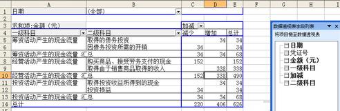 现金流量表表格