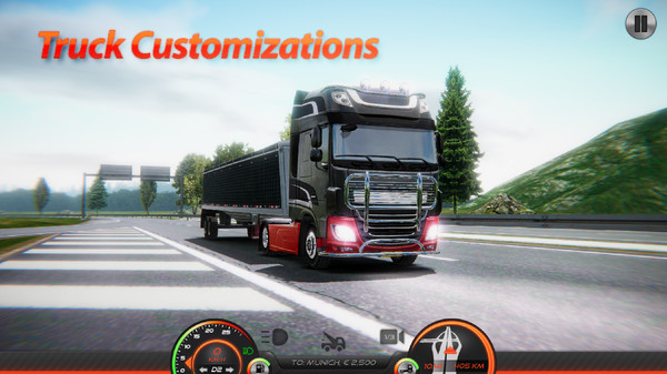 卡车模拟器欧洲2无限金币版