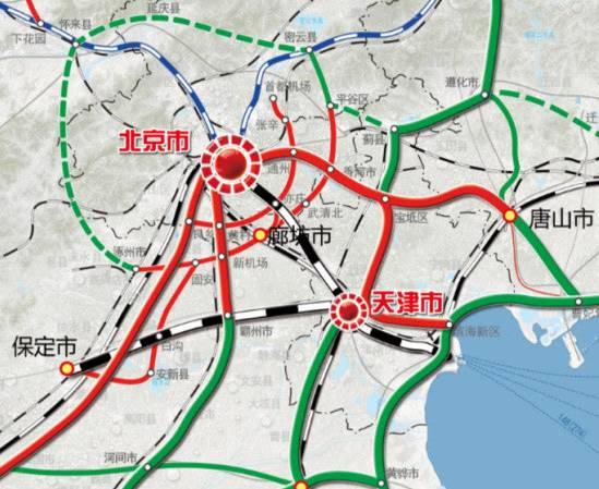 北京至雄安高铁规划图 高清大图
