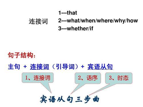 初中宾语从句教案 电脑版