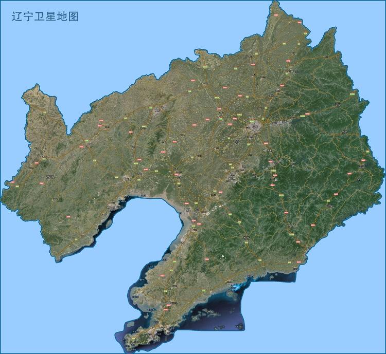 辽宁卫星地图高清版