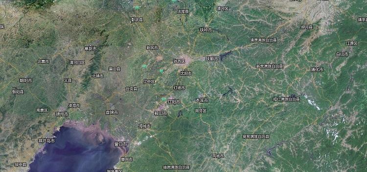 辽宁卫星地图全图高清版 大图