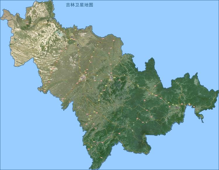 吉林卫星地图高清全图