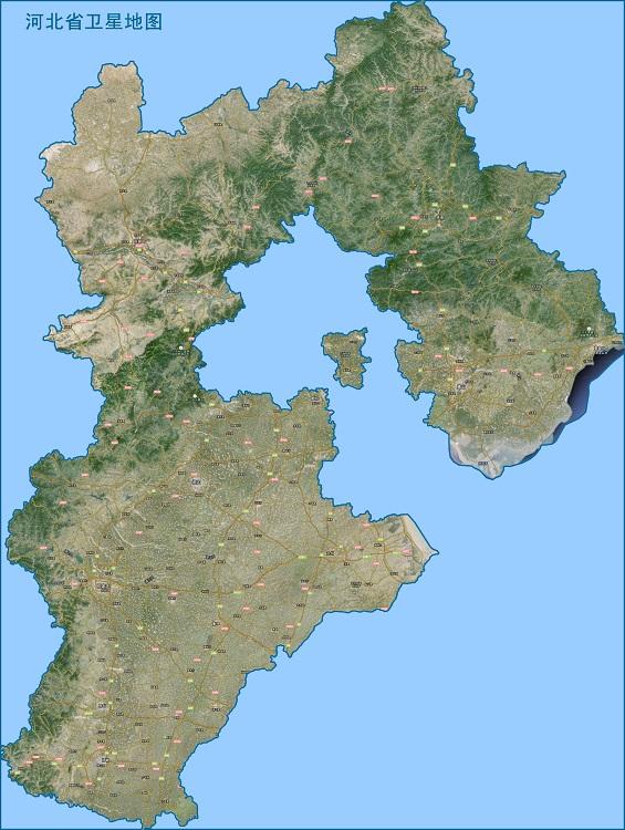 河北卫星地图高清版