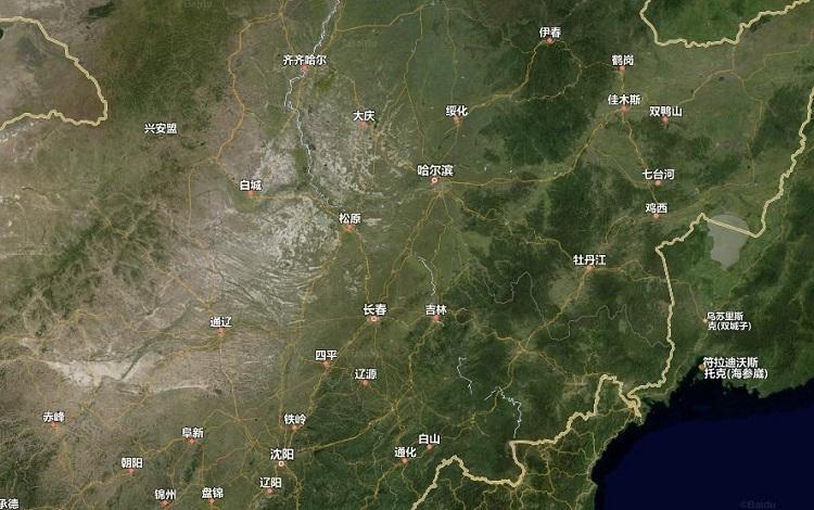 吉林卫星地图2019 大图