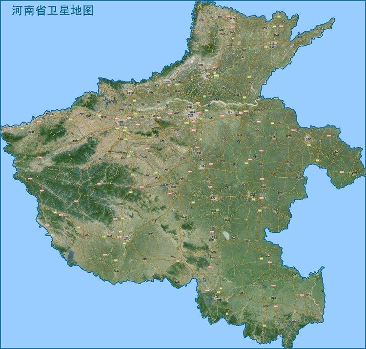 河南卫星地图高清版