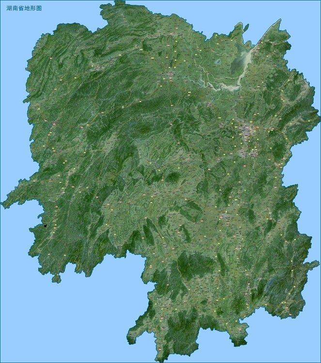 湖南卫星地图高清版