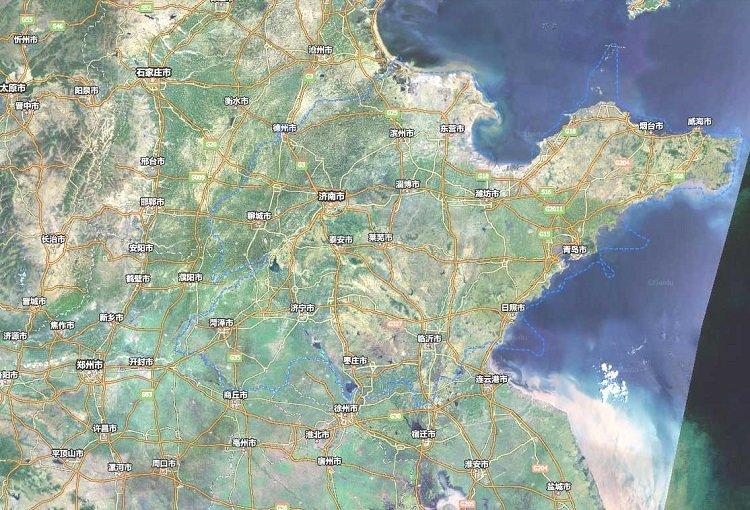 山东卫星地图高清版
