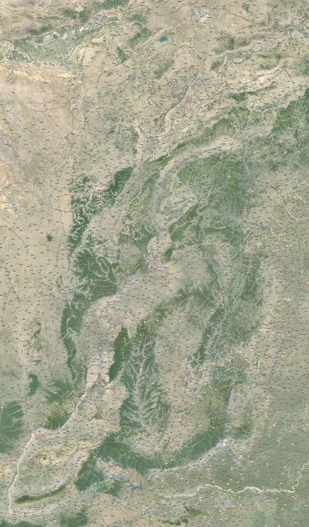 山西卫星地图高清版