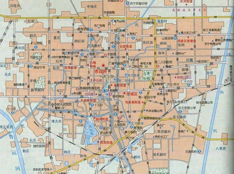 济南市区地图高清版 大图