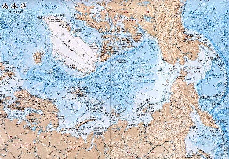 北冰洋地�D高清版大�D