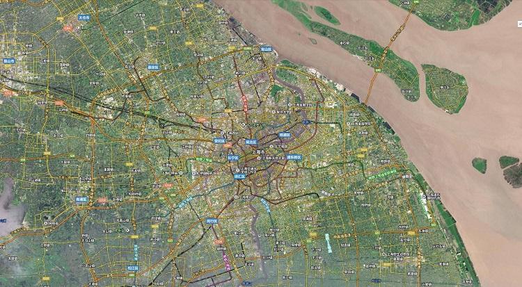 最新上海卫星地图
