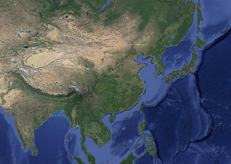 中国卫星地图全图高清版 大图