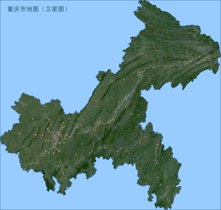 重庆卫星地图高清版