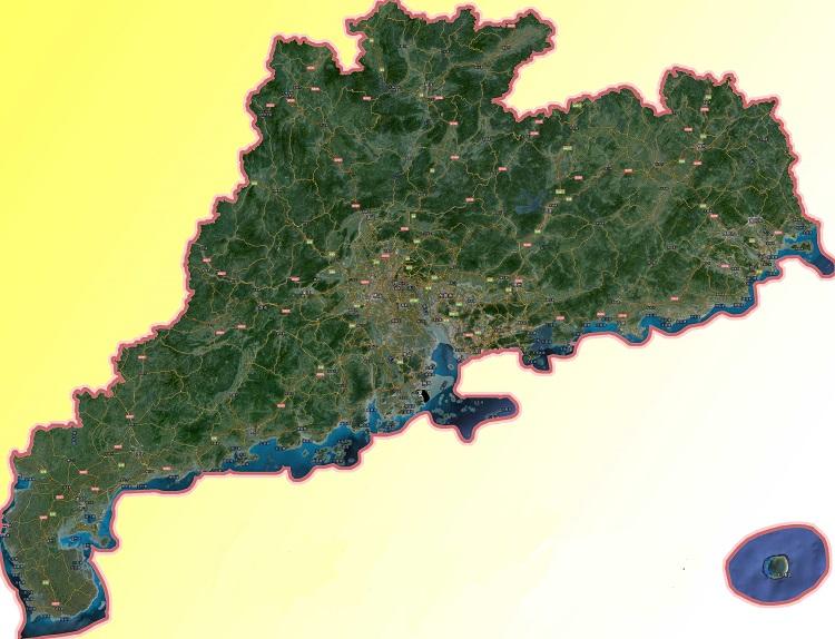 广东省卫星地图高清版
