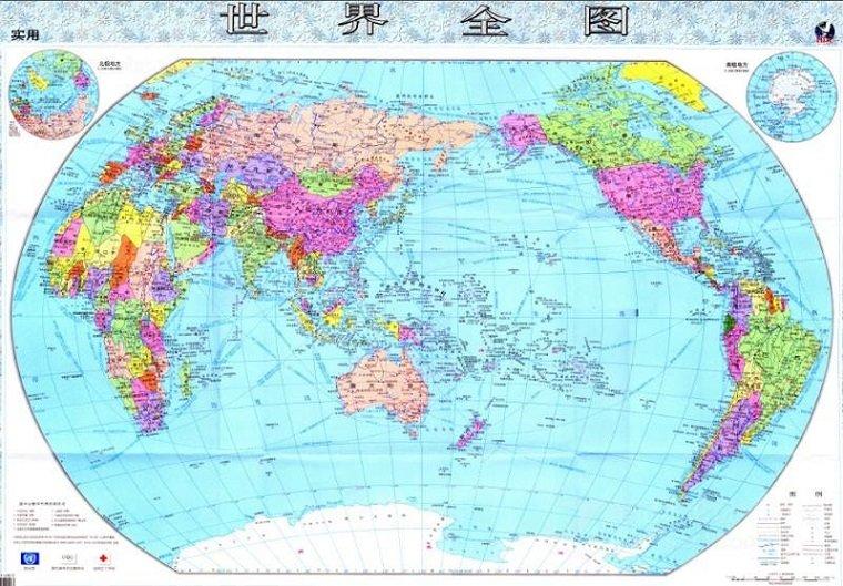 世界全图高清版地图