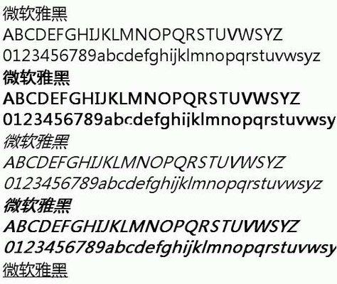 微�雅黑bold字�w正版 v2.1 官方版