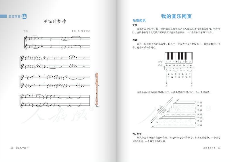 人教版音乐八年级下册电子课本 五线谱版