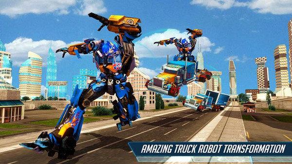 重型卡车机器人英雄游戏
