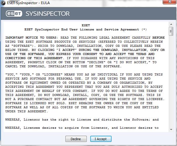 eset sysinspector软件