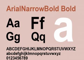 arial narrow bold ttf 免费版