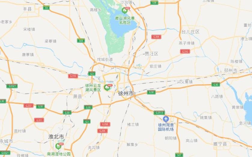 江苏徐州地图全图最新版本 2021电子版