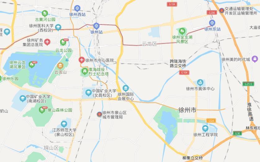 江苏徐州地图高清版