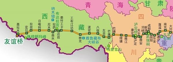 318国道全程线路图最新版大地图 全图版