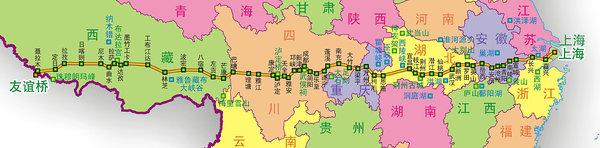 318国道全程线路图高清版