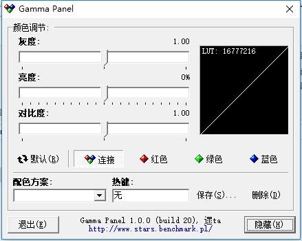 gamma panel中文版
