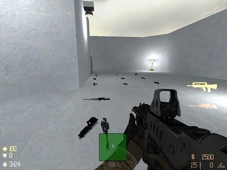 cs1.5雪地捡枪地图