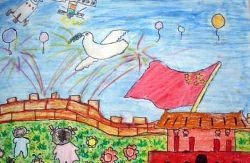 幼儿园国庆节绘画图片大全 一等奖作品
