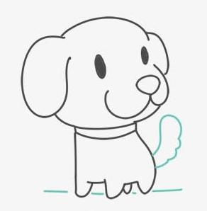 狗的简笔画卡通版下载 小狗简笔画图片大全高清版 极光下载站