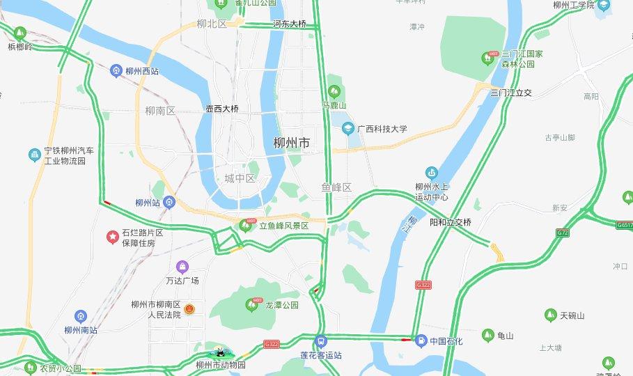 柳州地图全图高清版广西地图 完整版