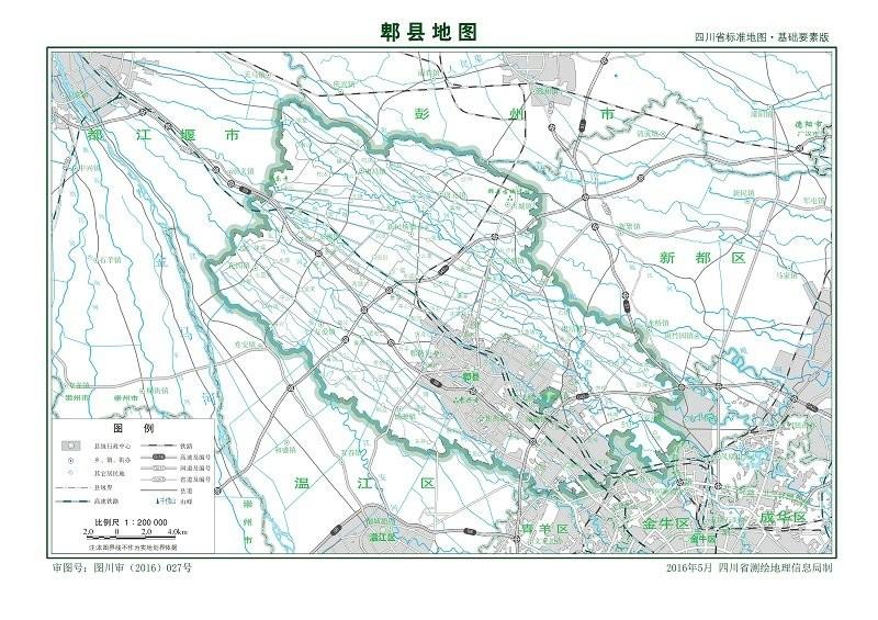 成都郫县地图全图高清版 可放大版